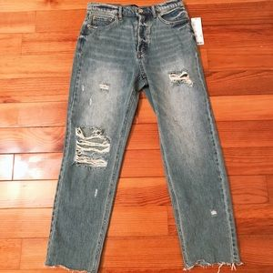 BDG High-Waisted Distressed Jeans